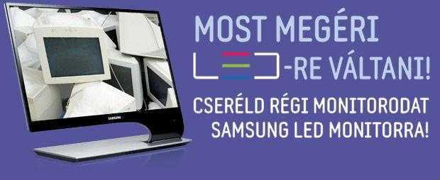 Most érdemes LED monitorra váltani! Hozza be régi monitorát és 3000 Ft kedvezményt adunk az új Samsung LED monitor árából. Klick Computer Kft. Számítástechnikai WebÁruház
