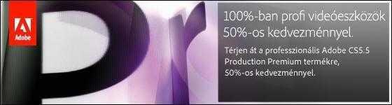 Adobe DV Switcher promóció - 100%-ban profi szoftverek most 50% kedvezménnyel!