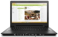 "LENOVO 110 laptop 15,6"" N3710 4GB 500GB fekete notebook 80T70073HV fotó"