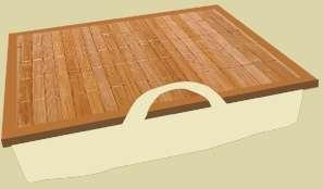 Akció 2012.04.24-ig  Notebook tartó babtábla normál bézs (beige) - bambusz ( ölben állvány