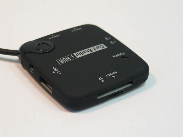 Akció 2012.07.31-ig  Kártyaolvasó USB ALL-IN card reader + USB HUB ( 1 év gar.)