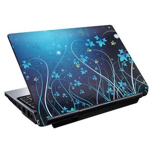 Akció 2012.08.22-ig  Notebook matrica Laptop dekorációs védőfólia ( skin ) Kék virágos