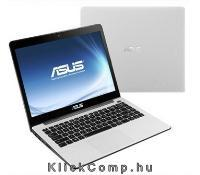 "ASUS 14"" notebook Intel Core i3-3217U/4GB/500GB/fehér X402CA-WX018D fotó"