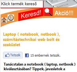 Tetszik a Klick Computer - Laptop Bolt