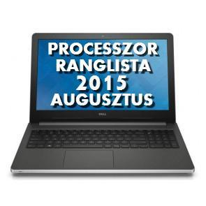 Laptop processzor ranglista 2015 augusztus