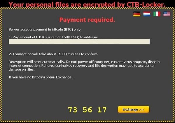 CTB Locker vírus terjed ismét az interneten!