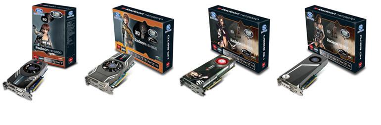 Sapphire felsőkategóriás videókártyák 6850, 6870, 6950, 6970